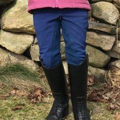 HKM Little Sister Paradiso helskodda softshellridbyxor barn Mellanblå