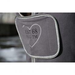 coolertäcke piemont dark grey cavallino marino