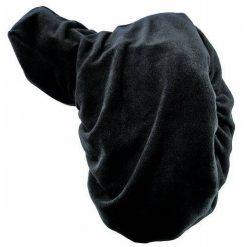 Sadelöverdrag fleece svart hkm