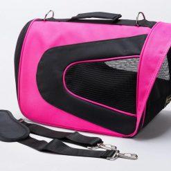 Rosa transportväska för hund