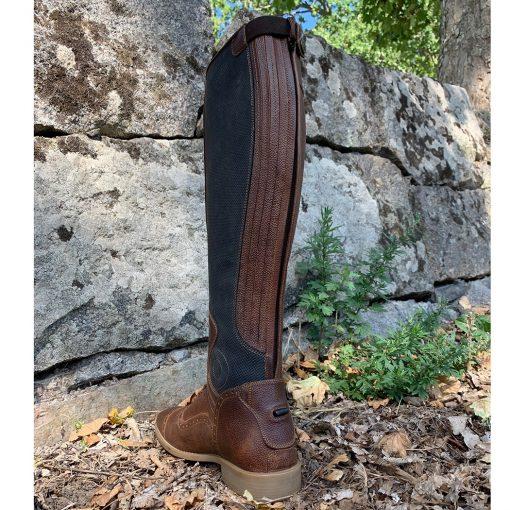 ridstövlel brun läderridstövel