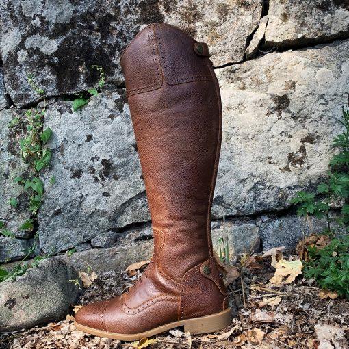 ridstövlel brun läderridstövlar