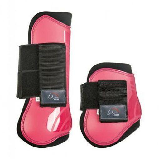 Benskydd fyrpack till häst rosa