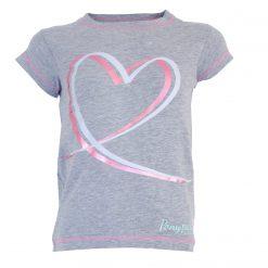 Söt t-shirt med snygg print och sömmar i kontrastfärg