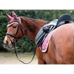Huva Golden Gate Lauria Garrelli på häst med matchande shabrak