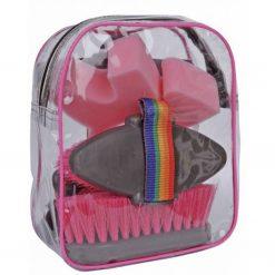 Ryktryggsäck för den mindre ryttaren i färg rosa