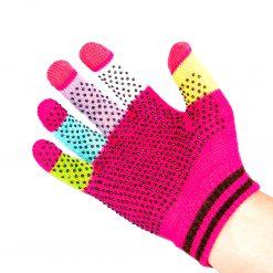 Magic glove med touch i rosa färg på en högerhand